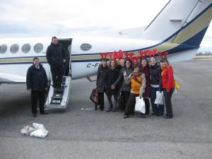 L'équipe du vol nolisé 2010